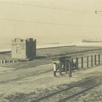 "Image of ""Sand Lots for Sale"", Santa Monica Beach - undated"