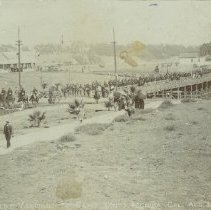 Image of 9th Regiment Marching to Camp Santa Monica, 1894 - 1894/08/20