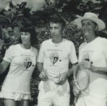Image of Tennis Player Gertrude Moran with Gay Talese and Jim McCrary - 1974