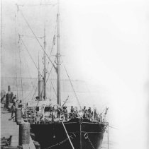 Image of Steamer Wellington at the Long Wharf - undated