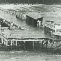 Image of Santa Monica Pier after 1983 Storm - 1983/01/27