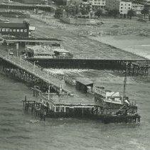 Image of Santa Monica Pier Damaged after 1983 Storm - 1983/01/27