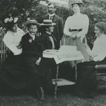 Image of Garden Gathering on Second Street, c. 1901 - c. 1901