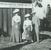 Image of Visiting a Crude Oil Co. Plant, early 1900s - undated
