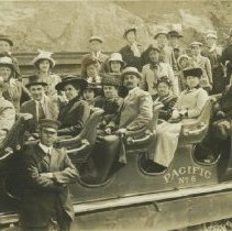 Image of People in Trolley - undated
