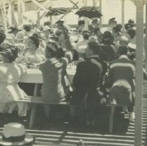 Image of People Dining on the Looff Pier Picnic Area - undated