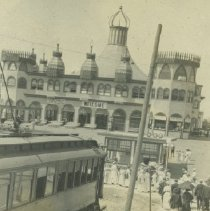 Image of Airline Trolley Stop at  the Looff Pier - undated
