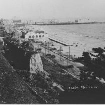 Image of California Incline, Pacific Coast Highway and the Santa Monica Pier - 1930s