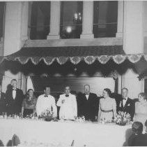 Image of Leo Carrillo at Formal Dinner - mid 1900s