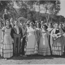 Image of Leo Carrillo and Native LA Daughters of the Golden West - circa 1937