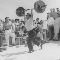 Image of Weight Lifting at Muscle Beach - mid 1900s