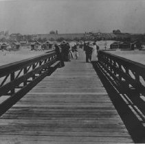 Image of Walking Pier Built by Ryan and Kinney - late 1890s
