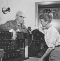 Image of Switchboard at the Telephone Company - circa 1949