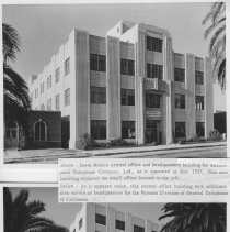 Image of Headquarters of Associated Telephone Co. and the Later General Telephone Company of California, Located in Santa Monica - 1937 and 1957