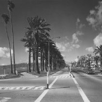 Image of Ocean Avenue and Palisades Park - undated