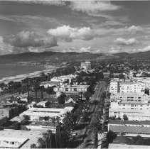 Image of Aerial View of Second Street Looking North - undated