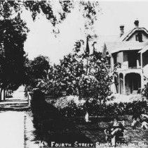 Image of Seated Woman in Garden of Fourth Street Residence - undated