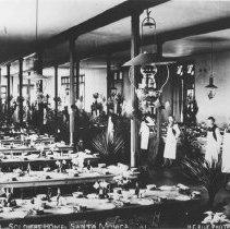Image of The Dining Hall at the Soldiers Home - early 1900s