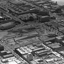 Image of Aerial of Santa Monica Place Construction Site - 1970/02/04
