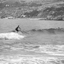 Image of A Surfer at Zuma Beach - 1975/11/23