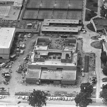Image of Aerial View of Construction on the Santa Monica High School Campus - 1979