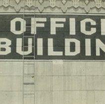 "Image of ""Office Building"" Sign, circa 1920s - 1920s circa"