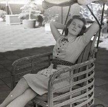 Image of Woman on Roof of Santa Monica Hospital, 1941 - 1941