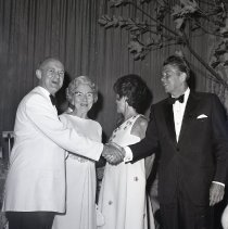 Image of Ronald and Nancy Reagan at the Gold Ball, 1969 - 1969/07/11