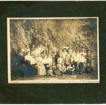 Image of Group Portrait of Members of a Fraternal Brotherhood in Santa Monica Canyon - 1918