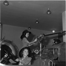 Image of Girl Scouts in a Fire Truck, 1945 - 1945/10/30