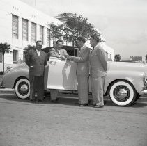 Image of Mayor Gates Receives a New Car, 1948 - 1948/03/30