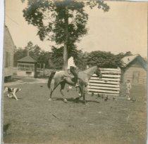 Image of Scanland, Lynwood and Abney on Horseback