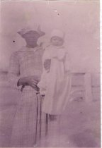 "Image of Mathilde Gatlin & nurse, Cynthia ""Di"" Redick Walker"