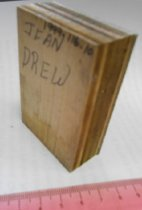Image of Back of Jean Drew print block