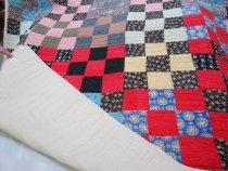 Image of Nine patch quilt