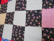 Image of Nine patch quilt, detail