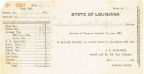 Image of 1910 State tax form