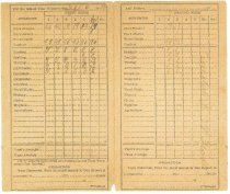 Image of Ivan school report card