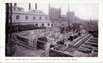 Image of The Ford Blast Furnaces at River Rouge, Detroit, Mich.
