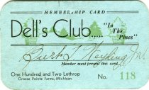 Image of 1964.202.001 - Card, Membership