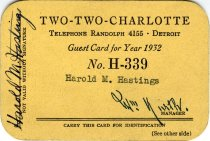 Image of 1964.204.010 - Card, Membership