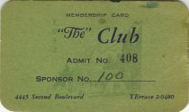 Image of 1964.210.001 - Card, Membership