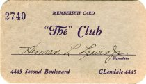 Image of 1964.210.005 - Card, Membership