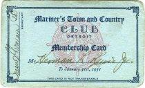 Image of 1964.210.015 - Card, Membership