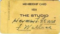 Image of 1964.210.021 - Card, Membership