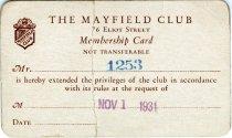 Image of 1964.285.014 - Card, Membership