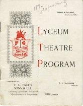 Image of 2006.004.229 - Program, Theater