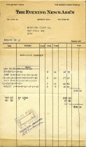 Image of 1982.021.003 - Invoice
