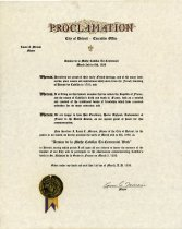 Image of 1958.191.001 - Proclamation