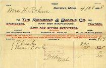 Image of 1947.126.005 - Invoice